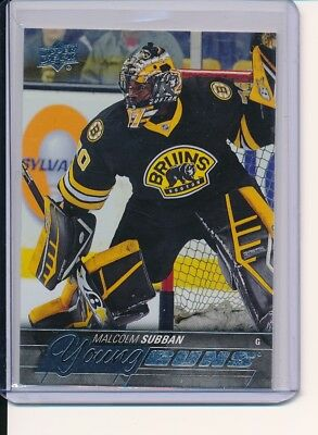 2015-16 Upper Deck Ud Series 1 Malcolm Subban Young Guns Rc Sp Rookie #211 Vegas