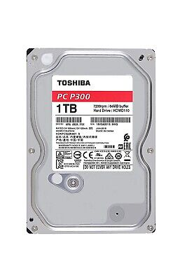 "Toshiba P300 1TB 3.5"" SATA Internal Desktop Hard Drive HDD 7200RPM 128MB Cache"