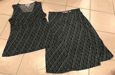 Nine & Co Nine West sleeveless top and skirt outfit size Large Medium comfort