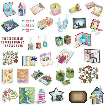 Box Cards Letter Leaves Mixed Cutting Dies Diy Scrapbooking Handcrafts Cards Fun
