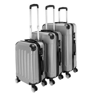 New 3 Pieces Travel Spinner Luggage Set Bag ABS Trolley Carry On Suitcase w/TSA