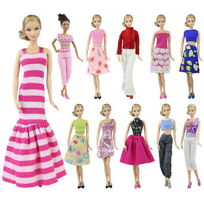 1x Doll Clothes Mix Shirt & Pants Party Dress Outfit for 11.5 inch Girl Dolls