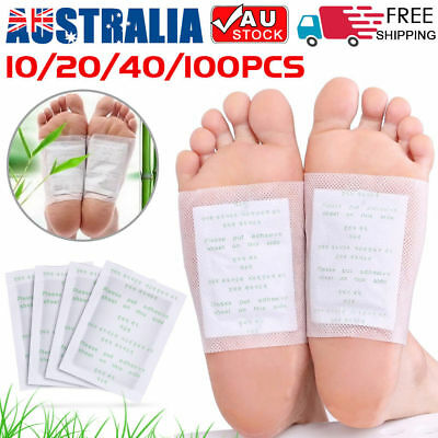10/100/200x Detox Foot Patch Pads Natural plant Toxin Removal Sticky Adhesives