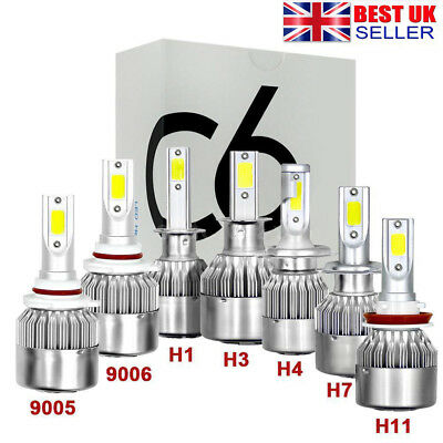 1500W 225000LM 6500K LED Headlight Kit Light Bulbs H3 H4 H7 H8/H9/H11 9005 9006