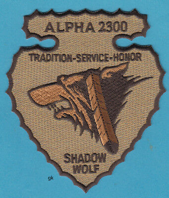 SHADOW WOLF TRIBAL IMMIGRATION / FUGITIVE TRACKING  ICE POLICE PATCH  Arizona