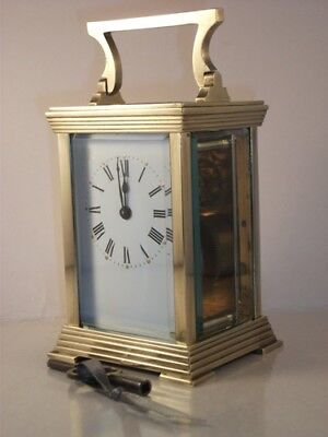 Antique French carriage clock C1910. With key. Full clean &service in Dec. 2018.