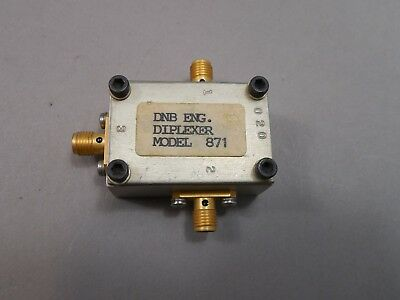 Lot of 5 DNB Engineering Coaxial Diplexer Model 871 SMA Female