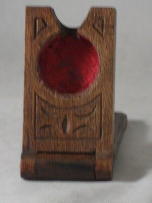 Antique Carved Black Forest Small Pocket Watch Holder Travel Case Emh Initials