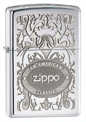 Zippo 24751, An American Classic, High Polish Chrome Finish Lighter, Full Size
