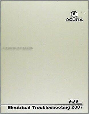 2007 acura rl electrical manual with wiring diagrams
