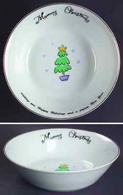 Merry Brite (china) MERRY CHRISTMAS Tree Soup Cereal Bowl 5585812