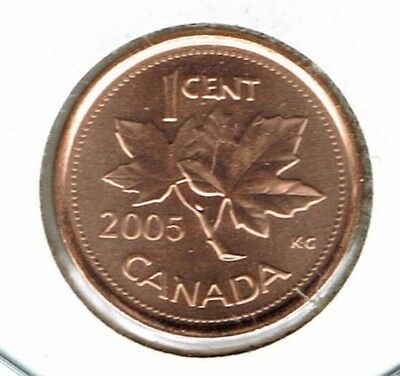 2005-P Uncirculated Canadian Steel Core One Cent Coin!