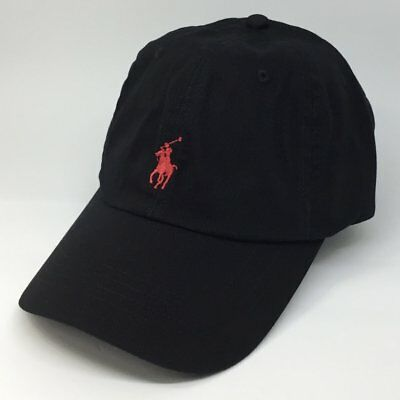 Adults  Size Ralph Lauren Polo baseball hats (black  & red  pony )70%off