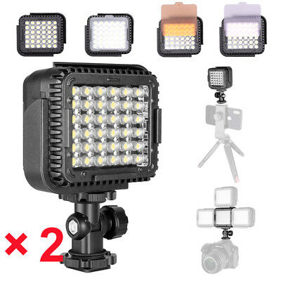 2X Neewer CN-LUX360 5400K Dimmable LED Video Light Lamp for Canon Nikon Camera