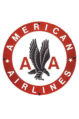 Vintage Fridge Toolbox Magnet (2x3) Classic Sign American Airlines Eagle Wings