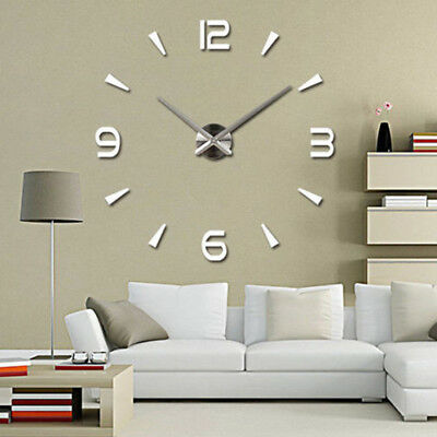 Large Wall Clock Big Watch Decal 3D Stickers Roman Numerals DIY Decoration Gift