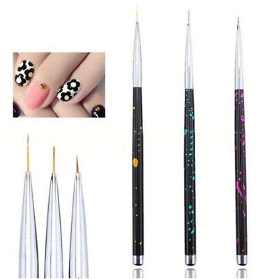 Manicure Nail Art French Stripe Line Flower Painting Drawing Liner Brush Pen Set