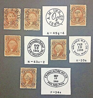US #R24c w/Company Handstamps   [1st Issue-Series] ~ Tracings Show H/S Details