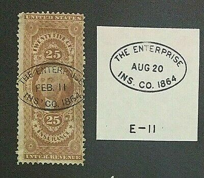 US #R46c w/ The Enterprise Insurance Company Handstamp [Details in Trace]