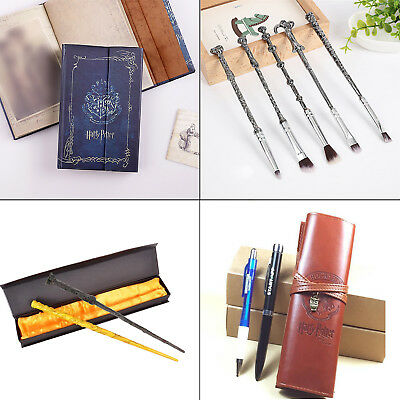 Harry Potter Agenda Diary Notebook Pencil Pen Bag Hermione Magic Wand Keychain