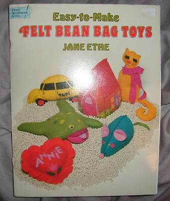 "Dover Needlework Series ""easy-To-Make Felt Bean Bag Toys"" Vintage, Retro (#m-95)"