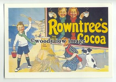 ad0391 - Rowntrees Cocoa - Children At The Beach - Modern Advert Postcard