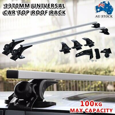Universal Car Top Roof Rack Cross Bar Luggage Cargo Carrier 1370mm Silver