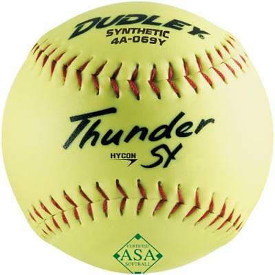 "Dudley 12"" Synthetic ASA .52/300 Softball - Dozen 4A-069Y-EA"