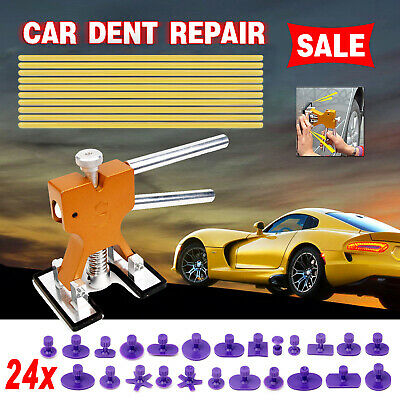 Car Paintless Dent Repair Tool Dint Hail Damage Remover Puller Lifter 24 Tabs