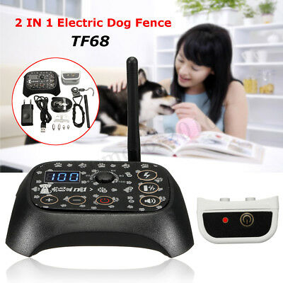 Wireless 1 Dog Fence Electric Pet Containment System Transmitter Waterproof