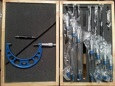 Outside Micrometer Set 0-200mm 'C'Type (Ratchet Stop Type)