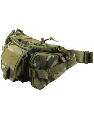Kombat Tactical Waist Bag Utility Pocket Pouch Bum Bag Adjustable Belt Up To 44""