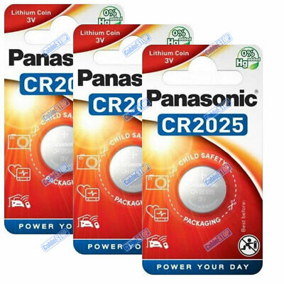 PANASONIC CR2025 3V Lithium Battery EXPIRY 2028 Coin Cell DL2025 for Car Key Fob