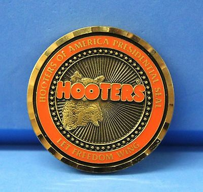Hooters Of America Presidential Seal World Wide Wing Commander Ii Coin Token