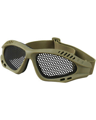 Kombat Tactical Mesh Glasses For Airsoft Shooting Smoke Lens Strong Goggles