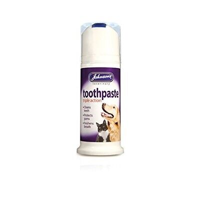 Johnsons Triple Action Dentifrice Pour Chats Et Chiens 50g - Toothpaste Dogs