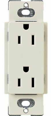 Lutron CARS-15-TR-LA (Light Almond Gloss) Electrical Socket Receptacle Claro 15A