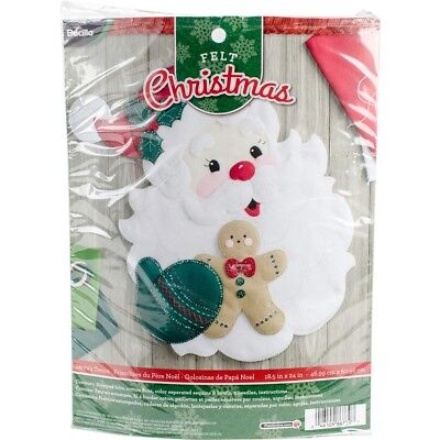 "Bucilla Felt Wall Hanging Applique Kit 18""x22""-santa's Treats"
