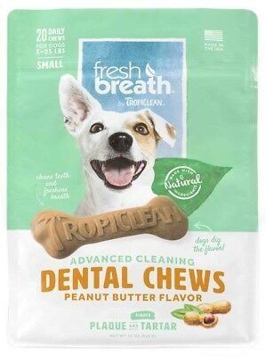 Tropiclean - Pet Fresh Breath - Dental Chews - Advanced Cleaning - Peanut Butter
