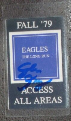 Glen Frey Signed  1979 Eagles Backstage Pass With Coa