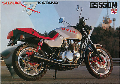 SUZUKI Brochure GS550 GS550M Katana 1981 1982 Sales Catalog Catalogue REPRO