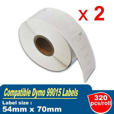 2x Rolls Compatible 99015 Label 54mm x 70mm - 320 Per Roll for Dymo LabelWriter