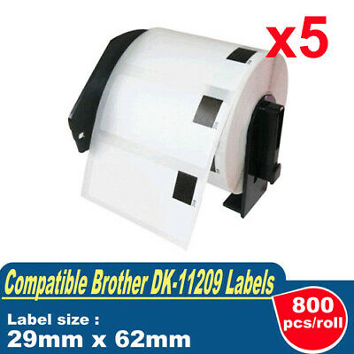 8 ROLLS COMPATIBLE with DK11209 DK 11209 Brother Small Address Labels 29x62mm