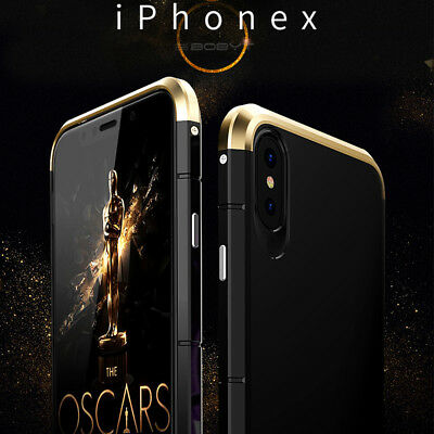 Metal Ultra Thin Luxury Shockproof Armor Aluminum Case Cover For iPhone X Xs Max