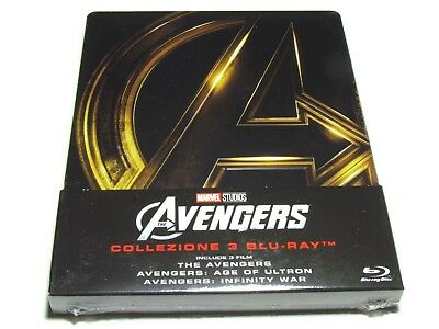 Avengers Trilogy Blu-Ray Collection Steelbook Import Age Of Ultron Infinity War