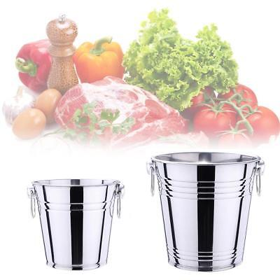 3L/5L Stainless Steel Portable Beer Ice Bucket Polished Cooler Barrel Home Use