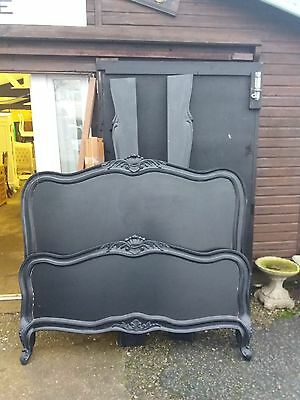 Black French Style King Size Bed (No2) Delivery Avail