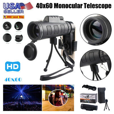 Ultra High Power HD 40X60 Portable HD Night Vision WaterProof Monocular US Stock