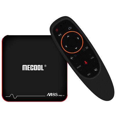 Mecool M8S pro con Android 7.1.1 Quad Core 2.4GHz Wi-Fi Tv-Box HD 4K H.265