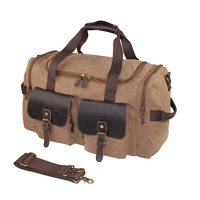 Canvas Travel Duffel Bag Weekend Weekender Bag Large Overnight Bag for Men  Women 06934a09bc995